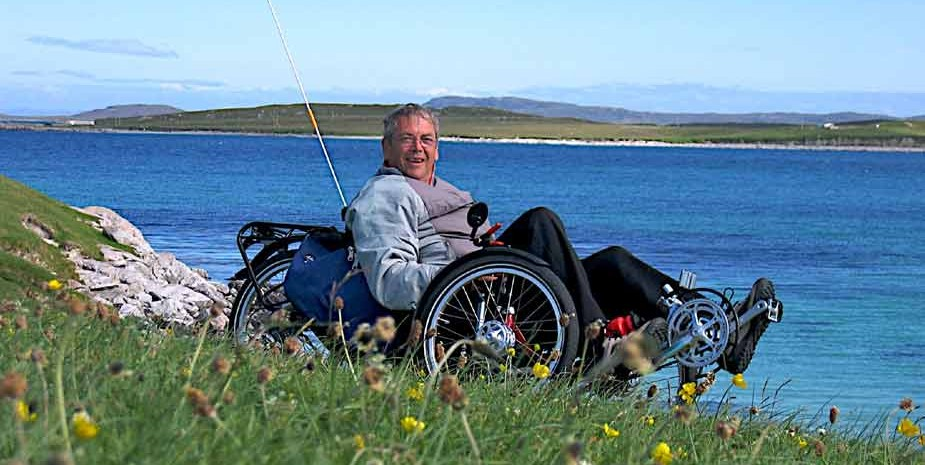 Cycling at Berneray Outer Hebrides