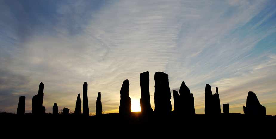Ancient stone circle at Callanish