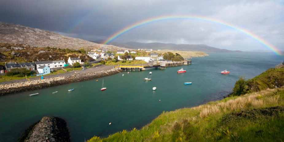 View over Hotel Hebrides